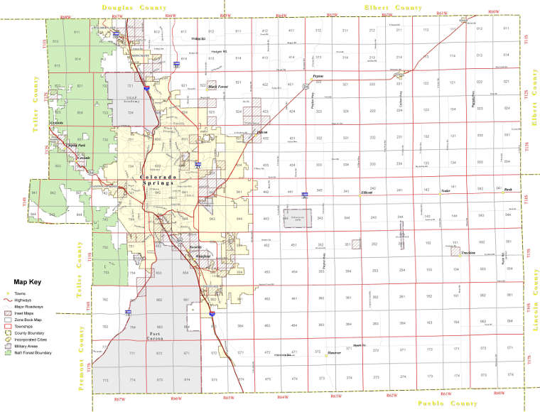 Planning Department El Paso County Co: Colorado Map Book At Usa Maps